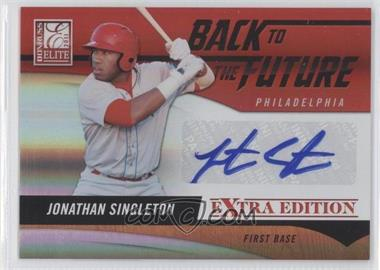 2011 Donruss Elite Extra Edition - Back to the Future Signatures #25 - Jonathan Singleton /120