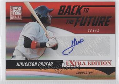 2011 Donruss Elite Extra Edition - Back to the Future Signatures #8 - Jurickson Profar /429