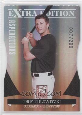 2011 Donruss Elite Extra Edition - [Base] - Aspirations Die-Cut #24 - Troy Tulowitzki /200