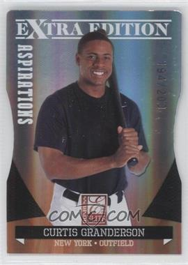 2011 Donruss Elite Extra Edition - [Base] - Aspirations Die-Cut #7 - Curtis Granderson /200