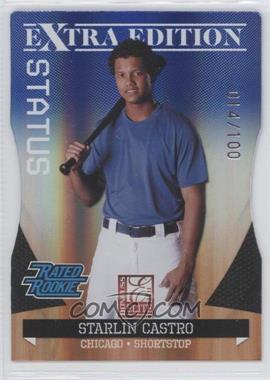 2011 Donruss Elite Extra Edition - [Base] - Blue Die-Cut Status #11 - Starlin Castro /100