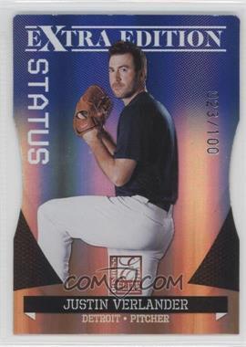 2011 Donruss Elite Extra Edition - [Base] - Blue Die-Cut Status #14 - Justin Verlander /100