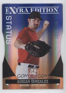 2011 Donruss Elite Extra Edition - [Base] - Blue Die-Cut Status #2 - Adrian Gonzalez /100