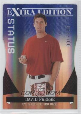 2011 Donruss Elite Extra Edition - [Base] - Blue Die-Cut Status #20 - David Freese /100