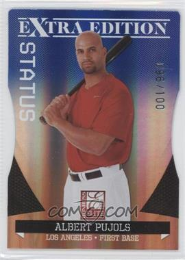 2011 Donruss Elite Extra Edition - [Base] - Blue Die-Cut Status #4 - Albert Pujols /100