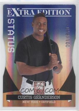 2011 Donruss Elite Extra Edition - [Base] - Blue Die-Cut Status #7 - Curtis Granderson /100