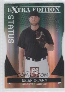 2011 Donruss Elite Extra Edition - [Base] - Emerald Status Die-Cut #10 - Brian McCann /25