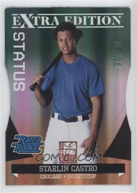 2011 Donruss Elite Extra Edition - [Base] - Emerald Status Die-Cut #11 - Starlin Castro /25