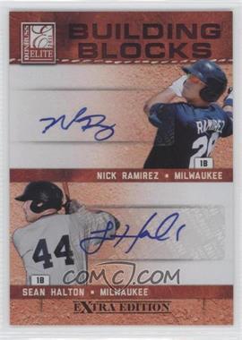 2011 Donruss Elite Extra Edition - Building Blocks Dual - Signatures [Autographed] #7 - Nick Ramirez, Sean Halton /49