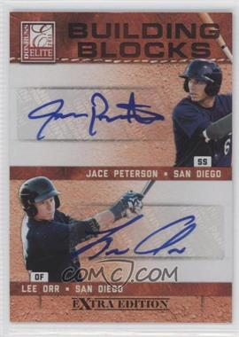 2011 Donruss Elite Extra Edition - Building Blocks Dual - Signatures [Autographed] #9 - Lee Orr, Jace Peterson /49