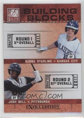 2011 Donruss Elite Extra Edition - Building Blocks Dual #1 - Bubba Starling, Josh Bell