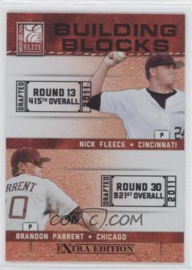 2011 Donruss Elite Extra Edition - Building Blocks Dual #10 - Brandon Parrent, Nick Fleece