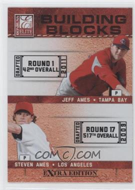 2011 Donruss Elite Extra Edition - Building Blocks Dual #11 - Steven Ames, Jeff Ames