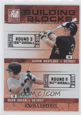 2011 Donruss Elite Extra Edition - Building Blocks Dual #12 - Aaron Westlake, Dean Green