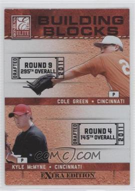 2011 Donruss Elite Extra Edition - Building Blocks Dual #15 - Cole Green, Kyle McMyne