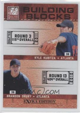2011 Donruss Elite Extra Edition - Building Blocks Dual #2 - Kyle Kubitza, Brandon Drury