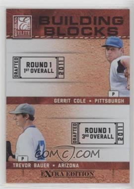 2011 Donruss Elite Extra Edition - Building Blocks Dual #3 - Gerrit Cole, Trevor Bauer
