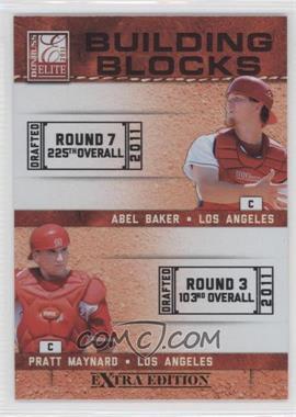 2011 Donruss Elite Extra Edition - Building Blocks Dual #4 - Abel Baker, Pratt Maynard