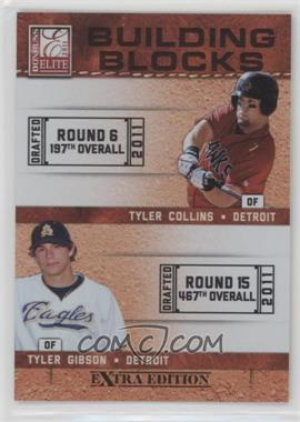 2011 Donruss Elite Extra Edition - Building Blocks Dual #5 - Tyler Gibson, Tyler Collins