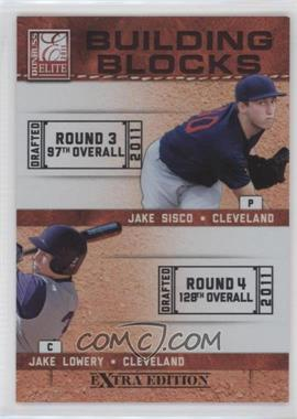 2011 Donruss Elite Extra Edition - Building Blocks Dual #8 - Jake Sisco, Jake Lowery