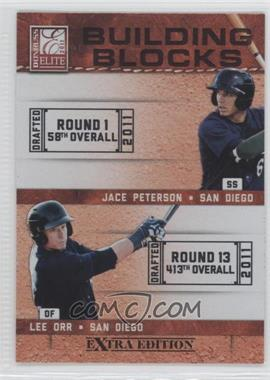 2011 Donruss Elite Extra Edition - Building Blocks Dual #9 - Lee Orr, Jace Peterson