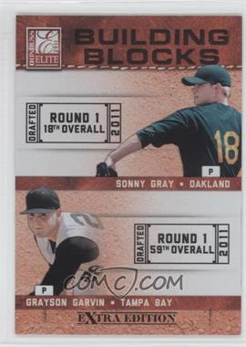 2011 Donruss Elite Extra Edition - Building Blocks Quads #1 - Aaron Westlake, Grayson Garvin, Corey Williams, Sonny Gray
