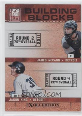 2011 Donruss Elite Extra Edition - Building Blocks Quads #3 - Brian Flynn, Jason King, James McCann, Jason Krizan