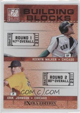 2011 Donruss Elite Extra Edition - Building Blocks Quads #4 - Kyle McMillen, Erik Johnson, Keenyn Walker, Scott Snodgress
