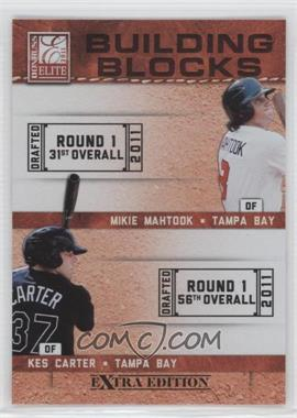 2011 Donruss Elite Extra Edition - Building Blocks Quads #5 - Granden Goetzman, Kes Carter, Johnny Eierman, Mikie Mahtook