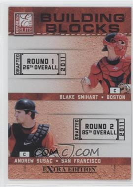 2011 Donruss Elite Extra Edition - Building Blocks Quads #6 - Andrew Susac, Jake Lowery, Blake Swihart, John Hicks