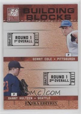 2011 Donruss Elite Extra Edition - Building Blocks Quads #7 - Danny Hultzen, Dylan Bundy, Gerrit Cole, Trevor Bauer