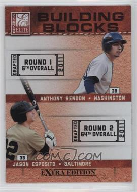 2011 Donruss Elite Extra Edition - Building Blocks Quads #8 - Harold Martinez, Jason Esposito, Anthony Rendon, Matt Dean