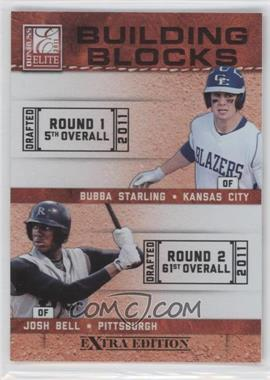 2011 Donruss Elite Extra Edition - Building Blocks Quads #9 - Bubba Starling, Josh Bell, Brandon Nimmo, Dwight Smith Jr.