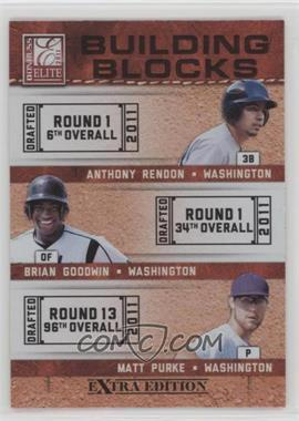 2011 Donruss Elite Extra Edition - Building Blocks Trios #1 - Anthony Rendon, Brian Goodwin, Matt Purke