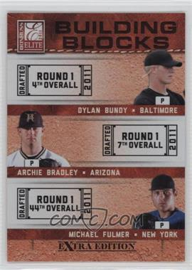 2011 Donruss Elite Extra Edition - Building Blocks Trios #2 - Michael Fulmer, Archie Bradley, Dylan Bundy