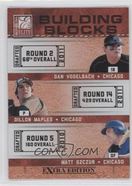 2011 Donruss Elite Extra Edition - Building Blocks Trios #3 - Dan Vogelbach, Dillon Maples, Matt Szczur