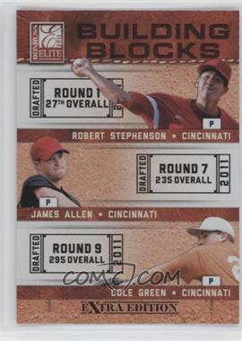 2011 Donruss Elite Extra Edition - Building Blocks Trios #5 - James Allen, Cole Green, Robert Stephenson