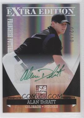 2011 Donruss Elite Extra Edition - Franchise Futures Signatures - Green Ink #166 - Alan DeRatt /10
