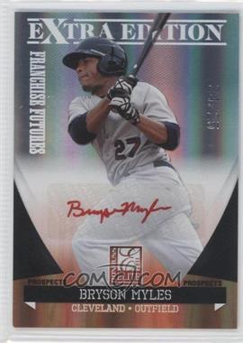 2011 Donruss Elite Extra Edition - Franchise Futures Signatures - Red Ink #100 - Bryson Myles /25
