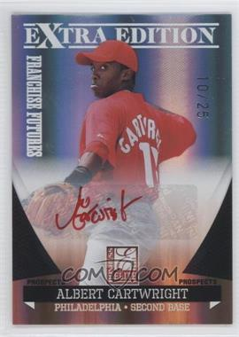 2011 Donruss Elite Extra Edition - Franchise Futures Signatures - Red Ink #184 - Albert Cartwright /25