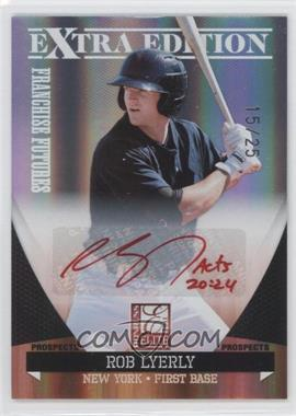 2011 Donruss Elite Extra Edition - Franchise Futures Signatures - Red Ink #190 - Rob Lyerly /25