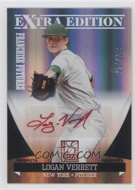 2011 Donruss Elite Extra Edition - Franchise Futures Signatures - Red Ink #43 - Logan Verrett /25