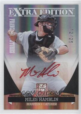 2011 Donruss Elite Extra Edition - Franchise Futures Signatures - Red Ink #69 - Miles Hamblin /25