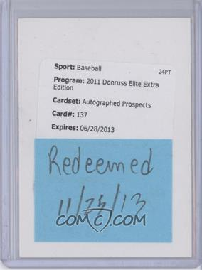 2011 Donruss Elite Extra Edition - Prospects - Aspirations Die-Cut Signatures [Autographed] #137 - Chris Reed /100 [REDEMPTION Being Redeemed]