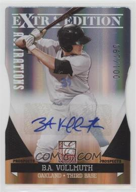 2011 Donruss Elite Extra Edition - Prospects - Aspirations Die-Cut Signatures [Autographed] #30 - B.A. Vollmuth /100