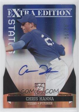 2011 Donruss Elite Extra Edition - Prospects - Blue Die-Cut Status Signatures [Autographed] #178 - Chris Hanna /50