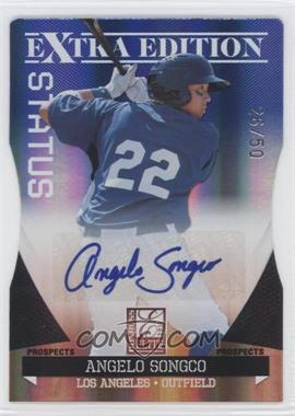 2011 Donruss Elite Extra Edition - Prospects - Blue Die-Cut Status Signatures [Autographed] #25 - Angelo Songco /50