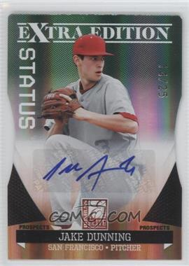 2011 Donruss Elite Extra Edition - Prospects - Emerald Status Die-Cut Signatures [Autographed] #187 - Jake Dunning /25