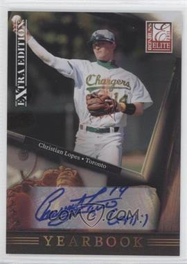 2011 Donruss Elite Extra Edition - Yearbook - Signatures [Autographed] #2 - Christian Lopes /199
