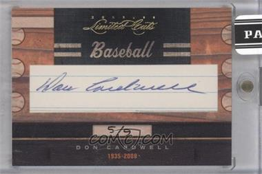 2011 Donruss Limited Cuts Cut Signatures - [Base] - [Autographed] #90.2 - Don Cardwell /9